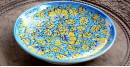 Azur ᴥ Blue Pottery Turquoise Floral Plate ᴥ K