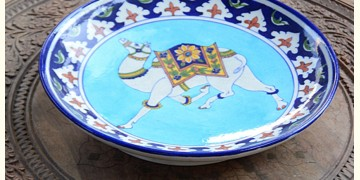 Azur ᴥ Blue Pottery Camel Plate ᴥ L