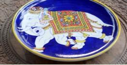 Azur ᴥ Blue Pottery Roayl Elephant Plate ᴥ M