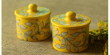 Azure ~ Yellow Chutney box (Set of two)