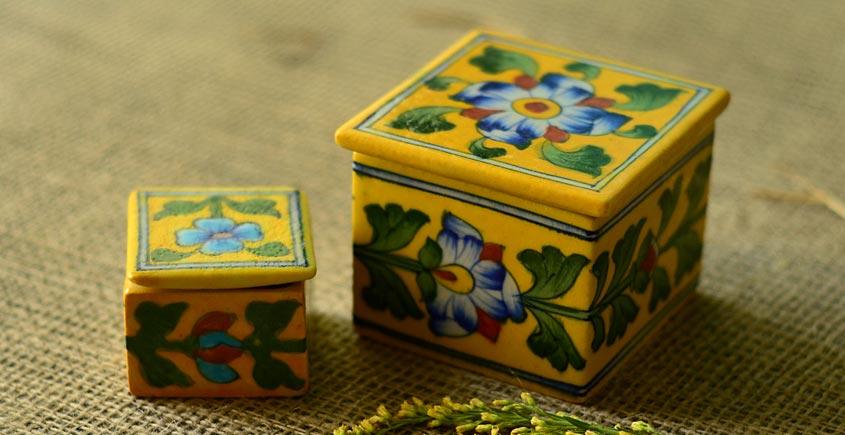 Azure ~ Yellow Box (set of two)