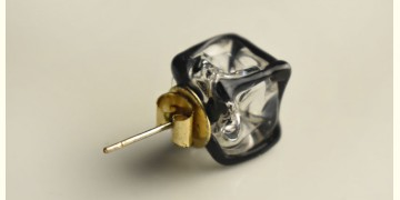 Zeenat ✤ Glass Jewellery ✤ Glass Cube ( Single Stud ) ~ 2