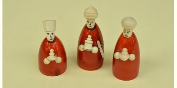Etikoppaka ⛄ Toy ⛄ 33 { set of 3 }