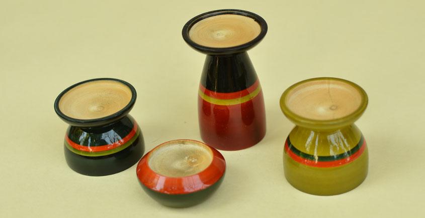 Etikoppaka ⛄ Tea Light Candle Holders ⛄ 12 { set of 4 }