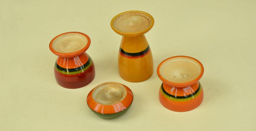 Etikoppaka ⛄ Tea Light Candle Holders ⛄ 14 { set of 4 }