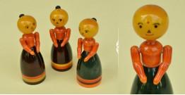Etikoppaka ⛄ Christmas Dolls ⛄ 16 { set of 3 }