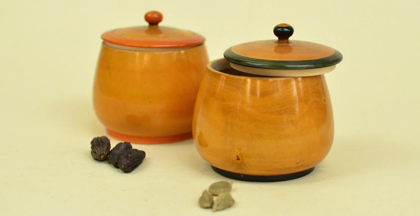 Etikoppaka ☙ Traditional Box ☙ 16 { set of two }