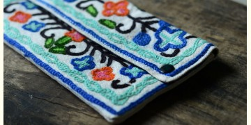 Aari-work Kashmir ~ Hand clutches (TURQUOISE)