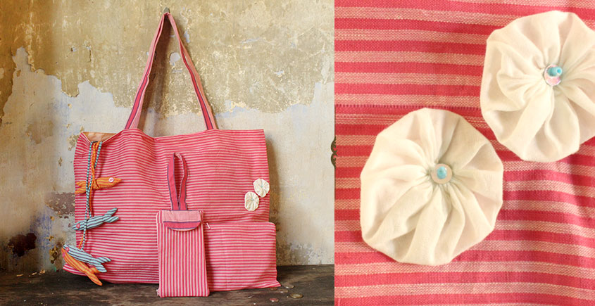 Koi ⚹ Cotton Bag . Pouch . Mobile Pouch ⚹ 4