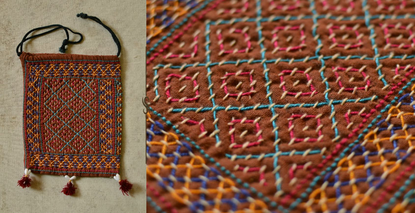 Treasure Trove ♠ Embroidered Drawstring Pouch ~ 15
