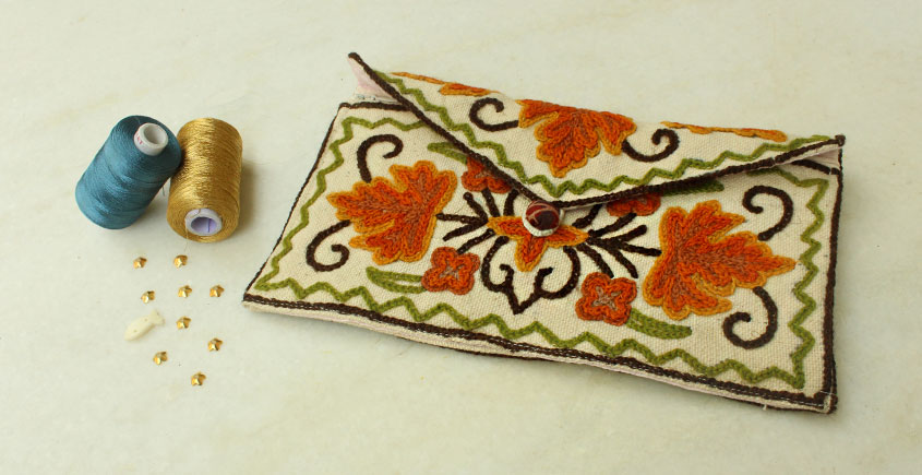 A Garden To Keep ✽ Aari Embroidered . Hand Clutches ✽ 26
