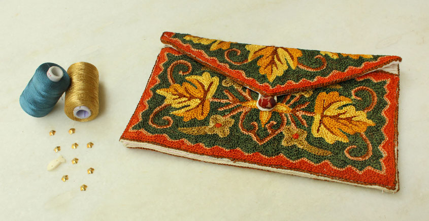 A Garden To Keep ✽ Aari Embroidered . Hand Clutches ✽ 27