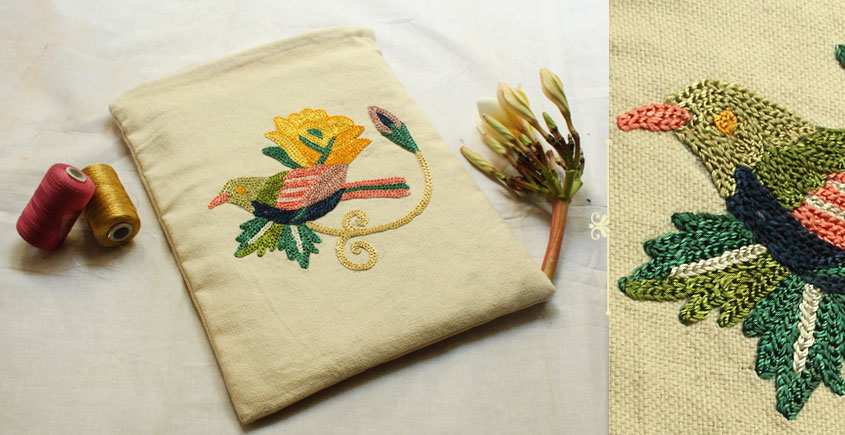 A Garden To Keep ✽ Aari Embroidered . Pouch ✽ 18