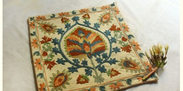 A Garden To Keep ✽ Aari Embroidered Cushion ✽ 6 { Single piece }