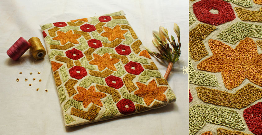 I-Pad Cotton Aari Embroidered Cover ( 10.5 ) ✽ 23