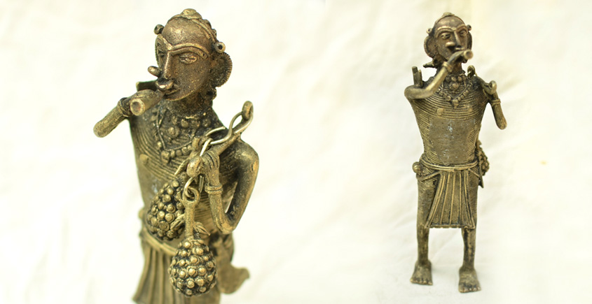 Dhokra unique design tribal figure for Home Decor