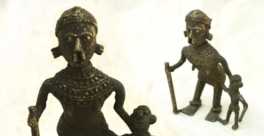 Ormolu ✺ Dhokra Tribal Women { 6 }