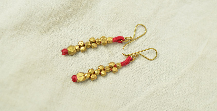 Dhokra Bras moti ear ring