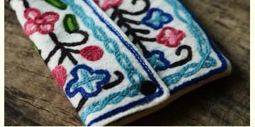 Aari-work Kashmir ~ Hand clutches (blue chain)