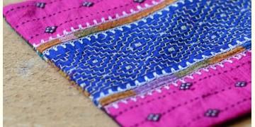 Kambira Embroidery ~ Raw silk pouch III