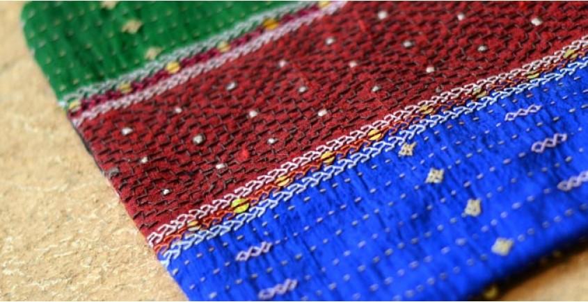 Kambira Embroidery ~ Raw silk pouch II