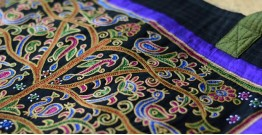 Ahir embroidery ~ Raw silk carry bag