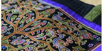 Ahir embroidery ~ Raw silk carry bag