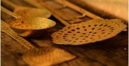 पीतल. Brass ~ Kitchen set { Five piece set }