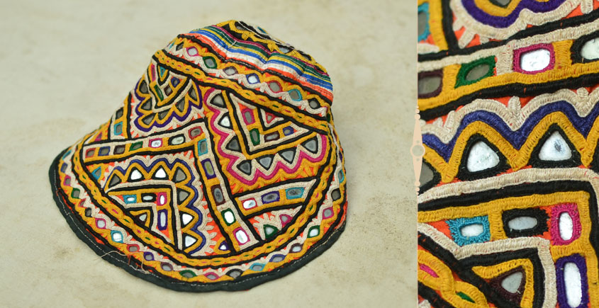 Pieces of Sindh ❂ Hand Embroidered Cap ❂ 94