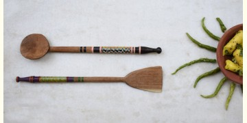 Rangavali ✼ Kutch lacquer ladles { Set of two } ✼ { 7 }