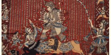 """Sacred cloth of the Goddess - Durga Mata & Mahishasura ( 25"""" X 20"""" )"""