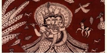 Sacred cloth of the Goddess- Radha Krishna (71 X 140 cm)