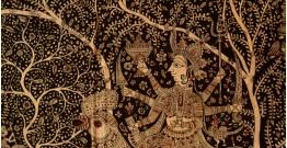 "Sacred cloth of the Goddess- Bahuchara Mata ( 58""X42"" )"