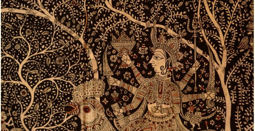 Sacred cloth of the Goddess- Bahuchara Mata ( 58X42 )