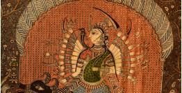 "Sacred cloth of the Goddess- Vishat Mata & Ambe Mata ( 63""X40"" )"