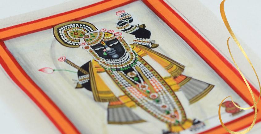 Miniature painting ~ Srinath ji ~ { 6 }