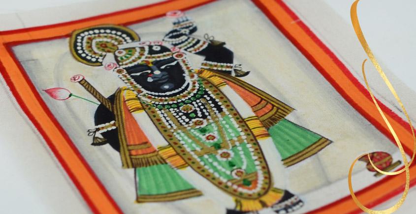 Miniature painting ~ Srinath ji ~ { 1 }