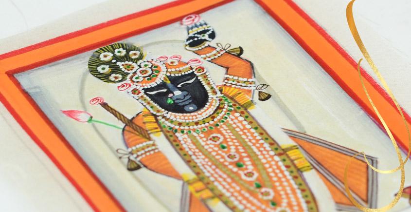 Miniature painting ~ Srinath ji ~ { 19 }