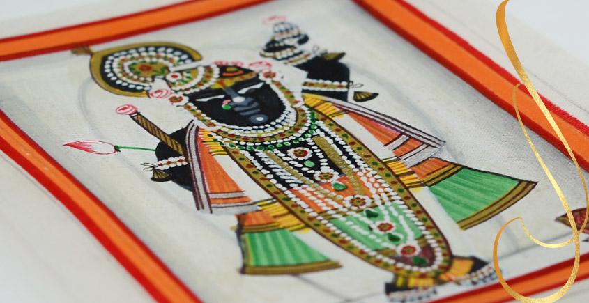 Miniature painting ~ Srinath ji ~ { 3 }