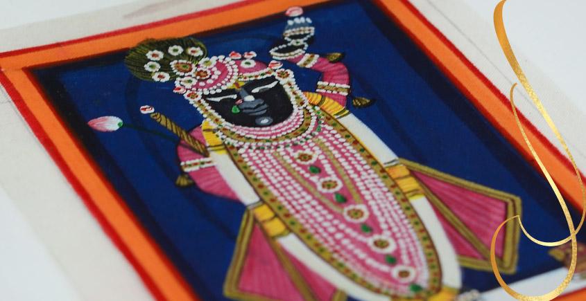 Miniature painting ~ Srinath ji ~ { 4 }
