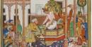 Miniature painting ~ Emperor Akbar receiving Abdul rahim