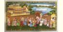 Miniature painting ~ Maharaja of Mewar procession