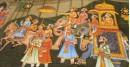 Miniature painting ~ Maharaja fateh singh ji  procession