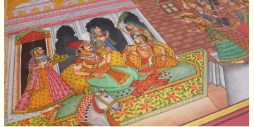 Miniature painting ~ Vasant Panchami at Mewar