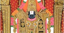 Miniature Painting ~ Shri Tirupati balaji  (24X18 inch)