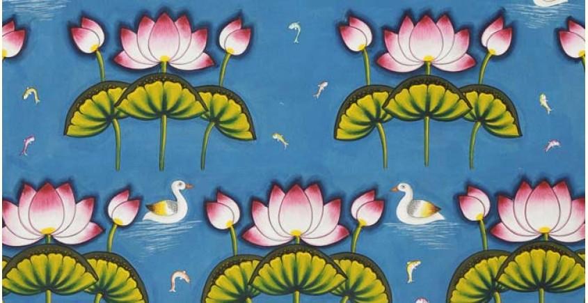 Pichwai Painting ~ Sharad Kamal Mahal (76 X 92cm)