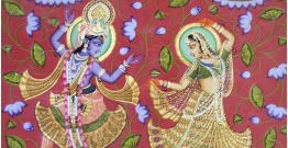 Kamal Ras ~ Lord krishana with Radha  ( 92 X122 cm )