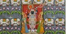 Pichwai Painting ~ Jal kamal with shrinathji and cow (122 X 152)