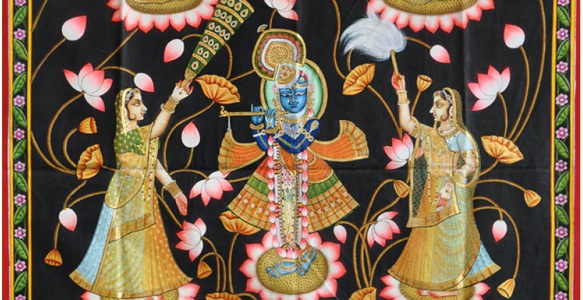 Pichwai Painting ~ Kamal Raas (3 X 4 feet)