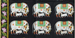 Pichwai Painting ~ Silver Cows (3 X 4 feet)